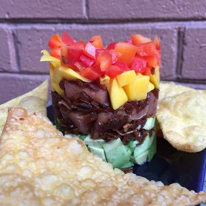 APP tuna poke tower