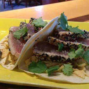 SIG TACOS spicy sesame tuna